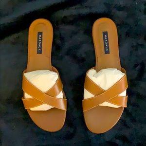 Margaux tan leather sandal, BNIB